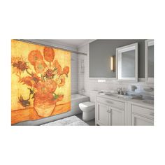 Amazon.com - Carnation Home Fashions Sunflowers Fabric Shower Curtain -