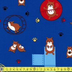 Robert Kaufman Fabric Pet Park Hamsters Blue FQ of Metre Childrens Kids Friends in Crafts, Fabric Stitch Patterns, Sewing Patterns, Haberdashery Shop, Popular Pokemon, Retro Fabric, Robert Kaufman, Fabric Shop, Dressmaking, Craft Projects