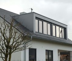Loft conversion roof line of pitched south facing front - Hullak rannow architekten ...