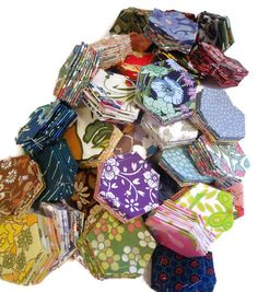 Hexie Patchwork pack - 60 PIECES, enough for CUSHION  £18.00