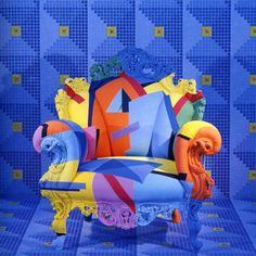 One of the many versions of the famous Proust armchair by Alessandro Mendini. (http://www.artelabonline.com/articoli/view_article.php?id=4545#)