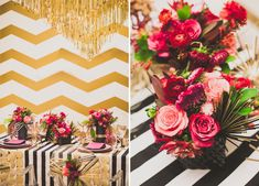 Gold pink glam NYE // Styled by Francine Ribeau Events photo by Melissa Biador Photography White Wedding Decorations, Ceremony Decorations, Flower Decorations, Maroon Wedding, Floral Wedding, Nye Party, Gold Party, Cocktail Wedding Reception, New Year's Eve Cocktails