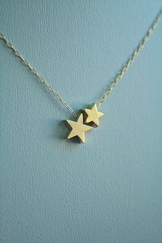Twin Star Gold Necklace. Big/ Little