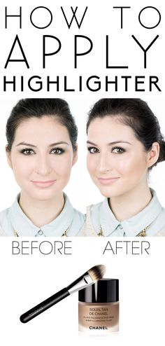 How to apply highlighter. #makeup