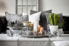 Dotty Home gifts & interiors Bohemian Living Rooms, Chic Living Room, Home Living, Gray Interior, Decor Interior Design, Rustic Country Homes, Contemporary Office, Christmas Design, White Christmas