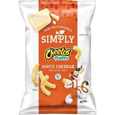 Puffs White Cheddar Cheese Flavored Snacks: Theyre the snack that you feel good about sharing with the people you love most.Delicious Simply CHEETOS Puffs White Cheddar Snacks are a treat to enjoy with the whole family! - Snacks - Ideas of Snacks Cheetos Cheese, Cheetos Puffs, Cheese Snacks, Cheetos Crunchy, Gourmet Recipes, Snack Recipes, Breakfast Recipes, White Cheddar Cheese, Gluten Free Snacks