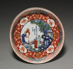 Japan, Edo Period (1615-1868), Imari ware porcelain with underglaze blue and overglaze enamel and gold decoration, Diameter: w. 21.00 cm (8 1/4 inches); Overall: h. 3.20 cm (1 1/4 inches). Severance and Greta Millikin Collection 1964.257