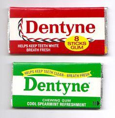 Old Vintage Dentyne Gum Packs. I used to get through packs of the red, cinnamon flavoured Dentyne gum :) My Childhood Memories, Great Memories, Childhood Toys, 1970s Childhood, Family Memories, Nostalgia, Retro Sweets, Vintage Sweets, Vintage Candy