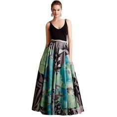 Pre-owned Anthropologie Pintura Ball Skirt - By Geisha Designs ($243) ❤ liked on Polyvore featuring skirts, none, ankle length skirt, ball skirt, long skirts, watercolor maxi skirt and maxi skirt