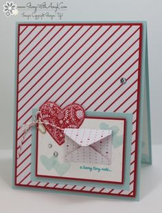 I used the Stampin' Up! Sealed with Love stamp set bundle from the upcoming 2017 Occasions Catalog to create my card to share today.