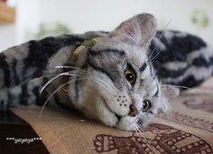 felt cat by ***yayaya***