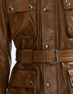 The iconic Pure Motorcycle jacket receives removable protectors for a safe yet still stylish ride. Shop the Classic Tourist Trophy jacket from Belstaff . Belstaff, Leather Jackets, Men's Collection, Motorcycle Jacket, Pure Products, Pocket, Stylish, Classic, How To Wear