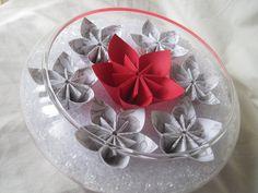 Unique paper flower wedding centerpiece