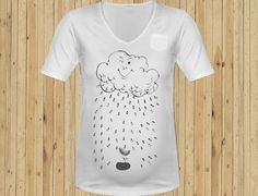 cloud rain Maternity shirt size M L XL. $19.99, via Etsy.