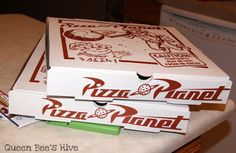 Life According to the Street's: [Happy Birthday] Toy Story Party Details- love the pizza boxes and invites