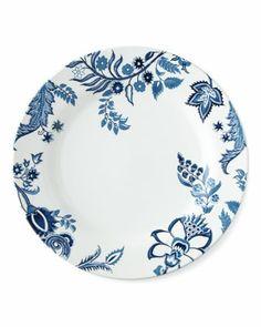 Aerin Lauder dinner plates blue and white