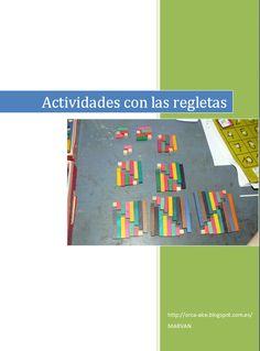 Educativos meninheira: Blog: PDF con Ideas para Actividades con Regletas Cuisenaire Base Ten Blocks, Primary Maths, Maila, Homeschool Math, Teacher Hacks, Learn English, Diy For Kids, The Help, Activities For Kids