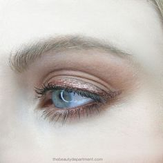One shade, two finishes. TOOLS: A Matte Warm Brown Eye Shadow — I used two shades (force of nature...