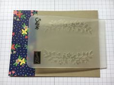 embossing folder placement for Floral Affection folder ... Stampin' Up!