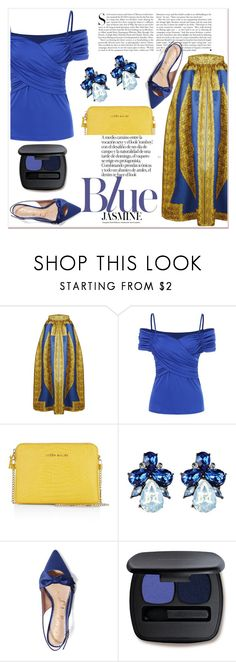 """""""Blue"""" by nerma10 ❤ liked on Polyvore featuring Karen Millen, Kershaw, Sam Edelman and Bare Escentuals"""
