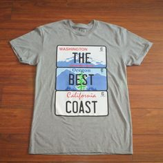 """Image of The Best Coast Tee """"Athletic Gray"""""""