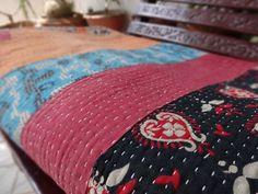 Vintage Kantha Quilt Patchwork Kantha by IndianHomeTextile on Etsy, $69.99
