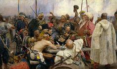 Ilya Repin, I cosacchi dello Zaporov'e scrivono una lettera al Sultano di Turchia, 1885 ca.