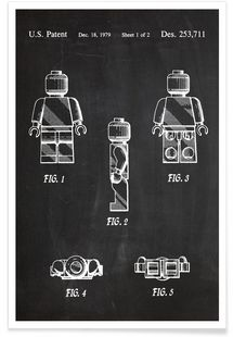 Lego-mini-figure from PatentPrints - love these. Invention Patent, Lego Wall, Design Poster, Patent Prints, Business Design, Wall Art Prints, Graphic Art, Graphic Design, Cool Stuff
