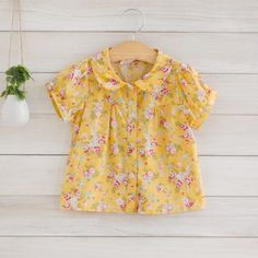 Mariele Yellow Floral Blouse