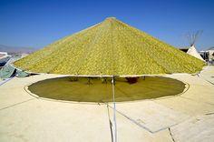 Umbrella shade structure