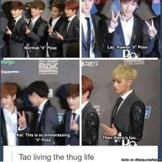 I didn't choose the thug life; the thug life chose me-Tao Tao Exo, Chanyeol Baekhyun, Exo K, Zi Tao, Kim Jong Dae, Kim Minseok, Xiuchen, Exo Memes, Bts And Exo