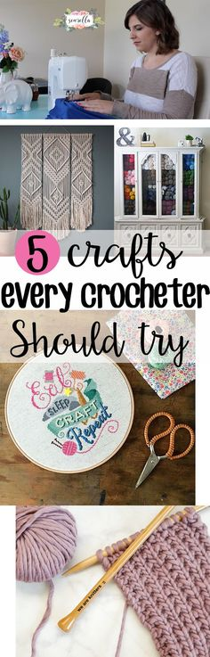 My 5 favorite crafts for crocheters! We love visual appeal, color and texture - and these 5 crafts will help you to step outside the yarn box and find something new!