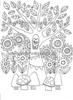 Set of 5 different Fairy Happy Printable Colouring Pages