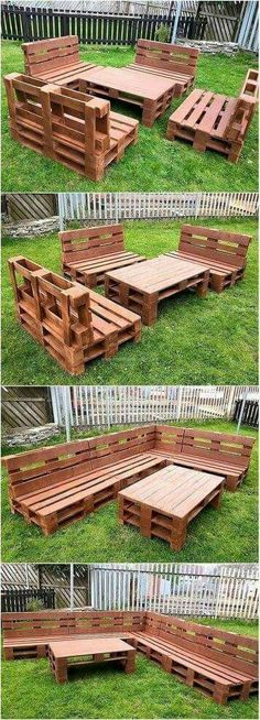 This idea of creating upcycled wood pallets garden furniture requires a little b. - This idea of creating upcycled wood pallets garden furniture requires a little bit of time and effo -