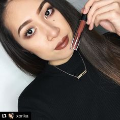 @xorika shows off her fav  lip color for this time of year, Madly Matte Lip Gloss in the shade, Cinnamon (1629)!   #repost #kleancolor #madlymatte #matte #madlymattelipgloss #lip #lipcolor #cinnamon #brown #makeup #cosmetics #beauty