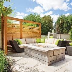 Salon extérieur contemporain - Cour - Inspirations - Jardinage et extérieur - Pratico Pratique
