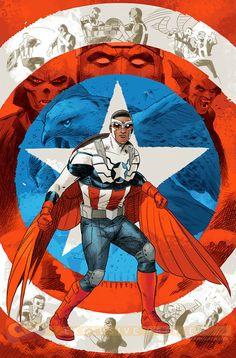 Captain America Sam Wilson Cover C Incentive Evan Doc Shaner Variant Cover - Midtown Comics Marvel Comics, Marvel Fan, Marvel Heroes, Marvel Characters, Black Characters, Marvel Films, Comic Book Heroes, Comic Books Art, Comic Art