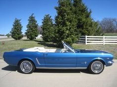 1964 Ford Mustang Convertible 289 Auto w/ Power Top / AC & Power Brakes Car Man Cave, Ford Mustang Convertible, 1964 Ford, Classic Mustang, Mustang Cars, Front Brakes, Ac Power, Rear Window, New Set