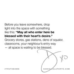 This #Truthbomb came from my post: You have the power to give blessings… just like any sainted, worshipped, sexy, powerful deity. Click to read the full post.