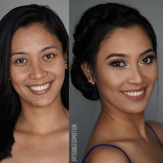 Makeup, before and after, bridal makeup, oc makeup artist, updo, bridal hair, oc hair stylist