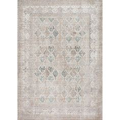 nuLOOM Traditional Vintage Trellis Fancy Grey Rug (4' x 6')   Overstock.com Shopping - The Best Deals on 3x5 - 4x6 Rugs