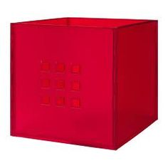 LEKMAN Box - red - IKEA Latoya (Shelving inserts for EXPEDIT shelves) Comes in other colors too