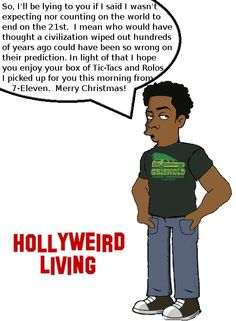 It finally sinks in to Tyrone that he will have to do some last minute shopping for Christmas this year.