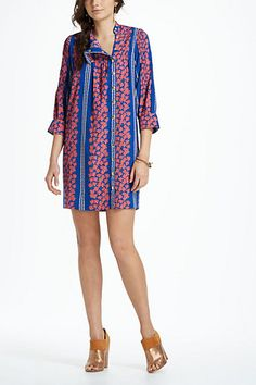 Graphic Begonia Shirt Dress
