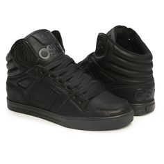 2037b70789 Osiris Clone Black Metal Shoe Men s High Top Skateboarding Sneakers  Osiris   FashionSneakers Osiris Shoes