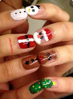 Xmas Nails : Santa Nail Art Designs, Ideas, Trends | Fashion Te