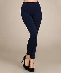 Look at this #zulilyfind! Navy Fleece-Lined Leggings #zulilyfinds