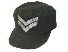 Halle Berry's Brokedown Chevron Cadet Hat Brokedown. $64.00