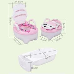 Free Give A Disposable Bag *20 Baby Toilet Training Seats Travel Potty 3 in 1 Comfortable Seat Portable Foldable Perfect Mommys Potty Training Chair Assistant Multifunction Eco Friendly Stool,
