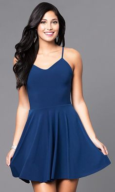 27f79d3e640 Short Camisole A-Line Party Dress with Strappy Back. Semi Casual  DressesFormal ...
